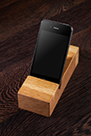 Solid Oak iPhone Stand / Mobile Phone Holder