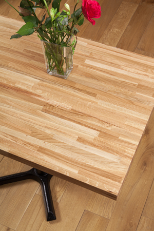 Solid Oak Restaurant Tabletop Rectangular 995mm x 620 x 40mm (20mm Stave)