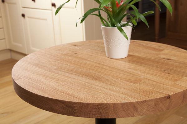 Solid Oak Restaurant Tabletop Round 40mm