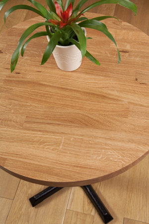 Solid Oak Restaurant Tabletop Round D620mm x 40mm (40mm Stave)