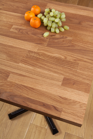 Solid Oak Restaurant Tabletop Square 620mm x 620 x 40mm (40mm Stave)