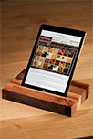 Solid Walnut iPad Stand / Tablet Holder