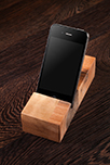 Solid Walnut iPhone Stand / Mobile Phone Holder