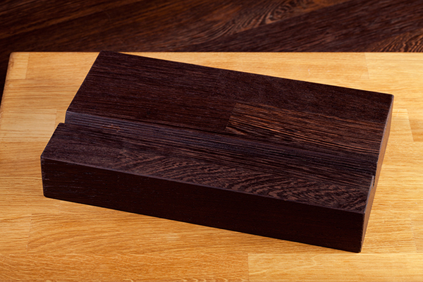 Solid Wenge iPad Stand / Tablet Holder
