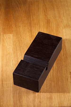 Solid Wenge iPhone Stand / Mobile Phone Holder