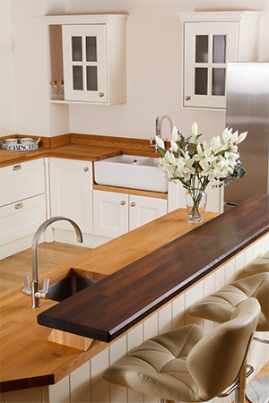 Solid Wood Breakfast Bar Worktops