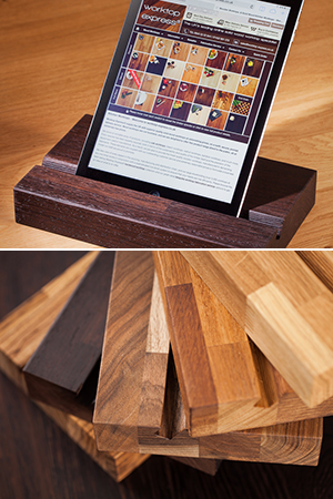 Solid Wood iPad Stands / Tablet Holders