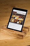 Solid Zebrano iPad Stand / Tablet Holder