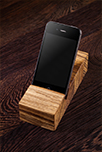 Solid Zebrano iPhone Stand / Mobile Phone Holder