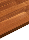 Bathroom Wooden Worktop - American Walnut - Lacquered - 2000mm X 365mm X 27mm