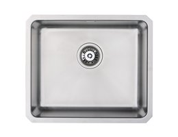 WEX Atlas Stainless Steel Single Bowl Kitchen Sink - Large