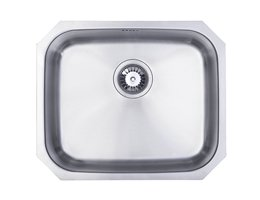 WEX Calypso Stainless Steel Single Bowl Sink - Large