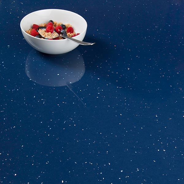 Blue Sparkle Laminate Worktops Andromeda