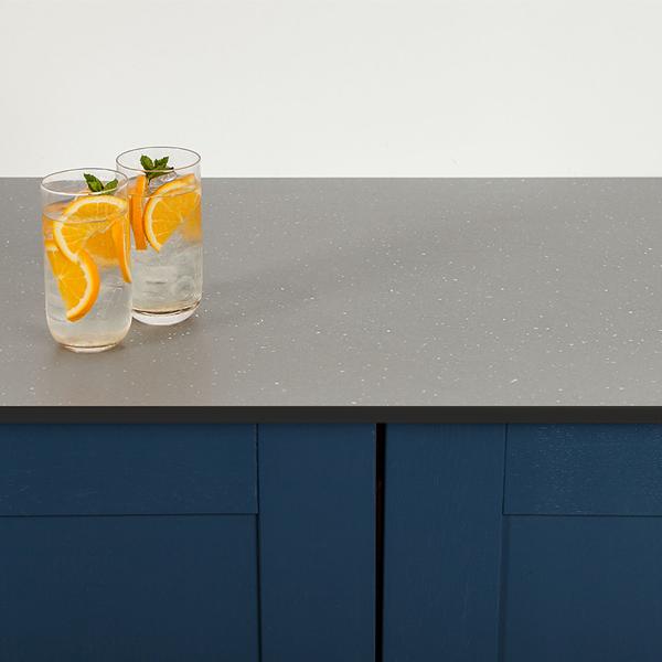 Kitchen Worktops Express: Grey Sparkle Solid Laminate Worktops