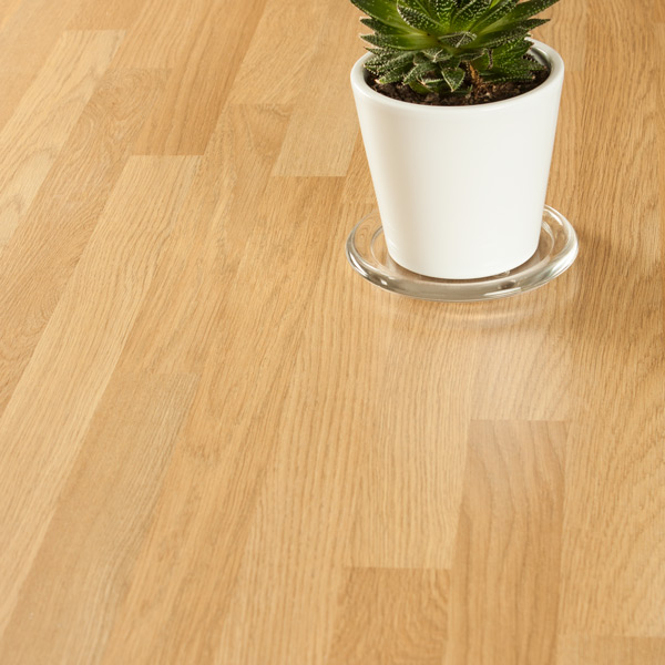Oak Block Laminate Worktop Upstand 3000 x 120 x 18mm, Oak ...