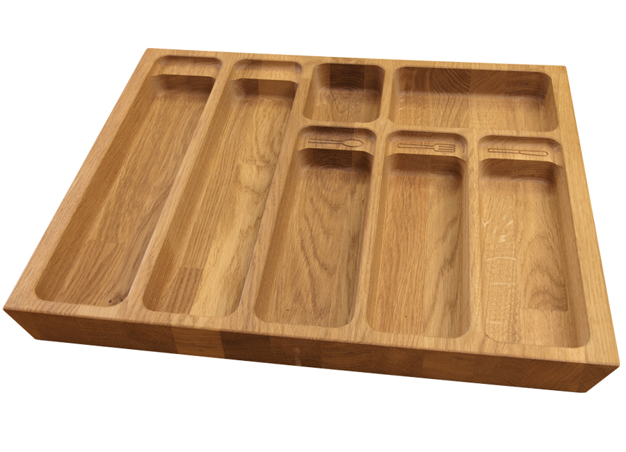 Solid Oak Cutlery Drawer Inserts Worktop Express