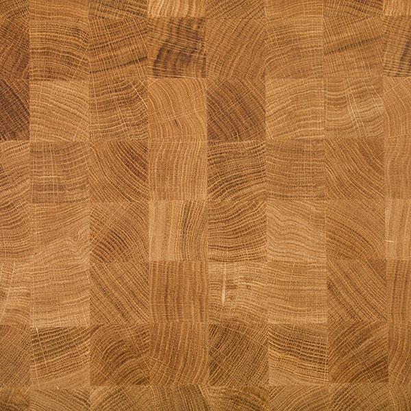 oak end grain butchers block worktop d620 x 100mm