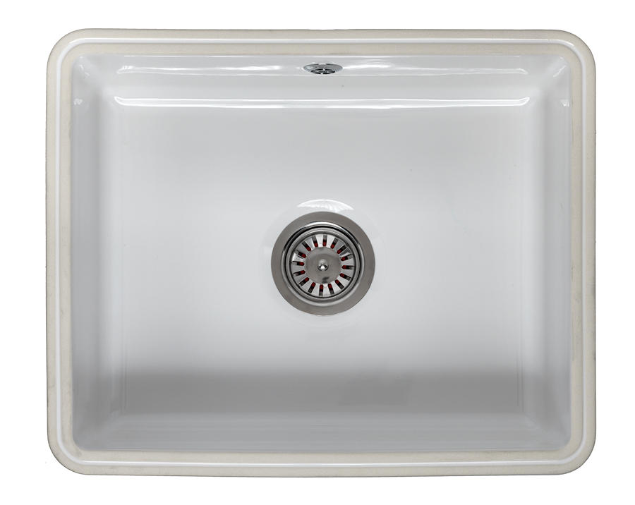 Reginox Mataro Single Bowl Undermount Ceramic Sink