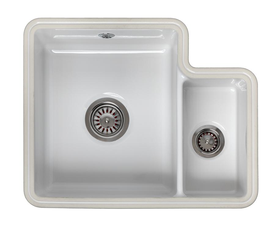 Reginox Tuscany 1 5 Bowl Ceramic Undermount Sink Worktop