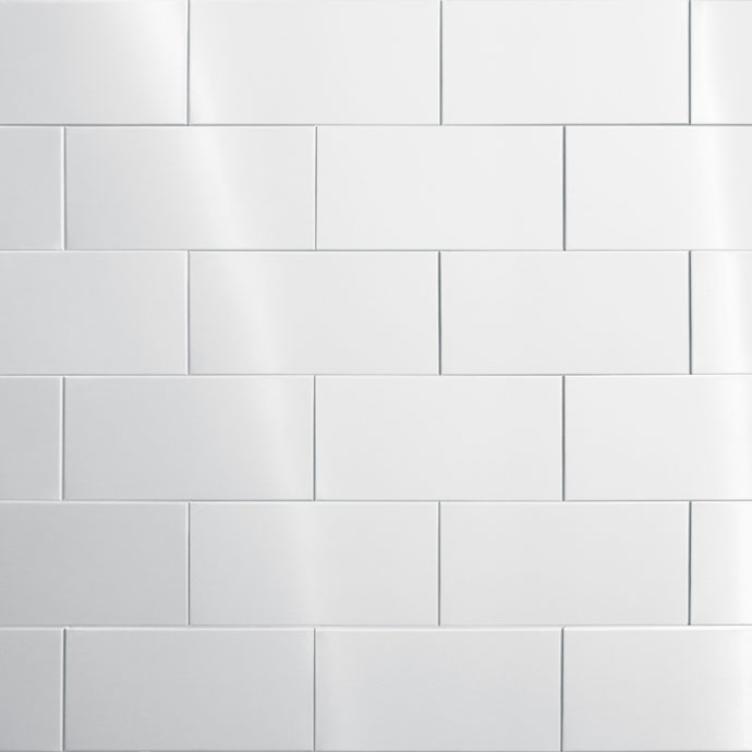 Stainless Steel Tile - 200mm x 100mm x 8mm (Subway) | Worktop Express