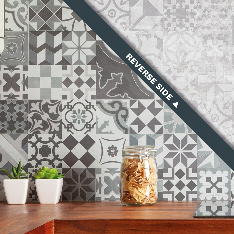 Victorian Mosaic Tile Splashback 3m X 600mm X 9mm