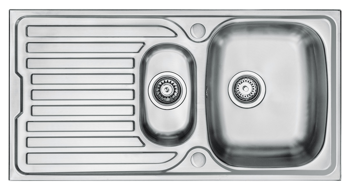 Wex Telesto Stainless Steel Sink With Drainer 1 5 Bowl