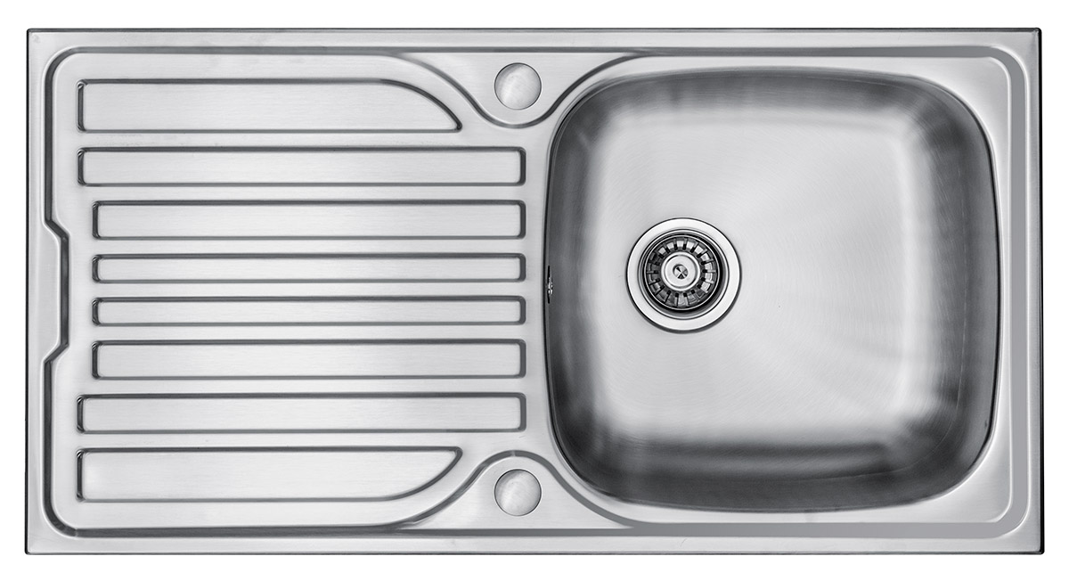 Wex Telesto Stainless Steel Sink With Drainer Single Bowl