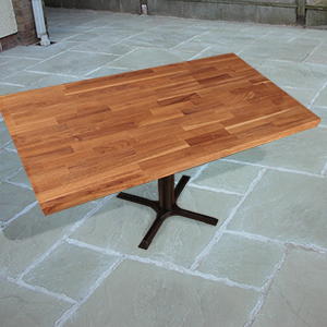 Solid Oak Replacement Table Tops for Summer Dining Outside