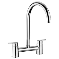 This Rangemaster Chrome Bridge Tap may look relatively contemporary, but it is a perfect choice for modern kitchens with a traditional twist.