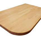 Prime Beech worktop with radius corners
