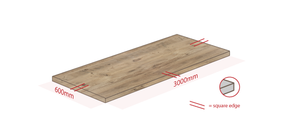 Rustic Wood Work Surface Dimensions