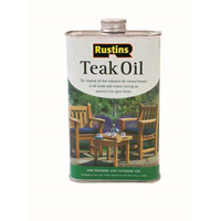 Teak Oil dries to a glossy finish and is more suitable for outdoor use.
