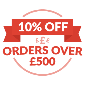 Save 10% on all orders over £500 until the end of August