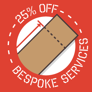 Save 25% on All Bespoke Services Ordered Through our Online Bespoke Worktop Tool