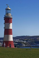 Smeaton's Tower on Plymouth Hoe Plymouth solid wood worktops.