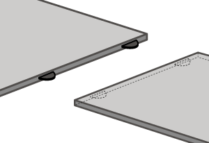 A biscuit joint sealed with a clear 2-part epoxy resin should be used to connect two solid laminate worktops.