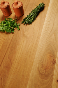 Solid oak worktops are a charming and traditional choice for country kitchens.