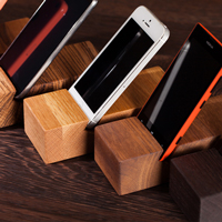Solid wood iPhone stands are the ideal gadget-friendly accessory for real wood worktops.