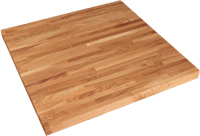 Square Solid Wood Restaurant Table Tops