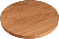 Round Solid Wood Restaurant Table Tops