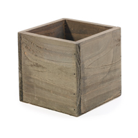 Wooden pot for storing plants or pens.