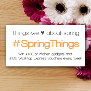 Win Kitchen Gadgets and Vouchers to Spend on Wooden Worktops Every Week in our #SpringThings Competition!