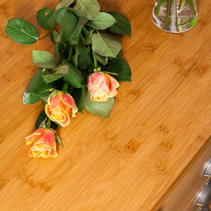 Caramel bamboo worktops are a highly sustainable choice for kitchens