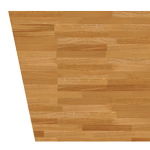 A tapered edge can be used for wood worktops in kitchens with irregular walls.