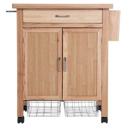 Tollerton wooden kitchen trolley Kitchen Worktops