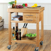 Wooden kitchen trolley from Robert Dyas Kitchen Worktops