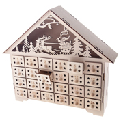 Light Up Wooden House Advent Calendar