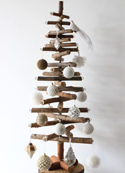Scandi Logs Wooden Christmas Tree