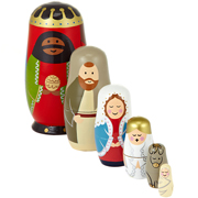 Russian Doll Nativity Scene