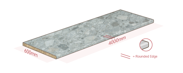 Trebbia Stone Work Surface Dimensions